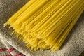 Dry Organic Angel Hair Spaghetti Pasta Royalty Free Stock Photo