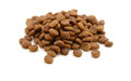 Dry pet food on white background Stock Photography