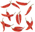 Dry red pepper on white background Royalty Free Stock Photo