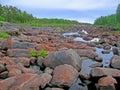 Dry river corridor vyg zalavruga karelia Stock Photos