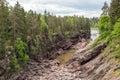 Dry riverbed of vuoksa river imatra finland stone Stock Images