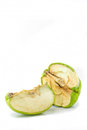 Dry rot apples green stored in the refrigerator should not eat Royalty Free Stock Photo