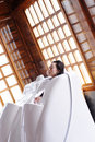 Dry sauna bed Royalty Free Stock Photos