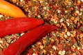 Dry seasoning with chillies Royalty Free Stock Photo