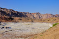 DRY SLAT LAKE QESHM ISLAND IRAN Royalty Free Stock Photo