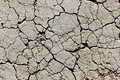 The dry soil Stock Photography