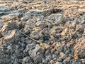 Dry soil in construction site Royalty Free Stock Photo