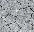 Dry soil cracks Royalty Free Stock Photo