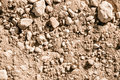 Dry soil and stones Stock Images