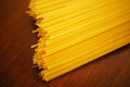 Dry spaghetti close up of italian Stock Image