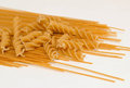 Dry Spaghetti and Rotini Royalty Free Stock Photos