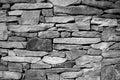 Dry Stacked Stone Foundation Royalty Free Stock Photo