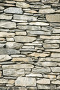 Dry stone wall: background ? Royalty Free Stock Photography