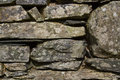 Dry stone wall close up background image of a Stock Photography