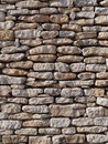 Dry stone wall, Corsica, France Royalty Free Stock Photo