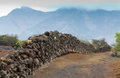 Dry stone wall in tenerife Stock Photos