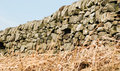 Dry stone wall yorkshire derwent valley Stock Photography