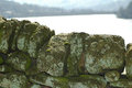 Dry stone wall yorkshire work derwent valley Stock Photos