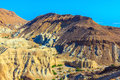 Dry talus picturesque multicolored sandstone ancient mountains in the valley of the dead sea Stock Photos
