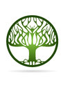 Dry Tree vector logo design, eco-friendly concept.