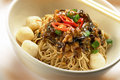 Dry Wantan noodle Royalty Free Stock Images