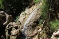Dry Waterfall In The Rocks