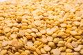 Dry yellow split peas isolated on white background Soybean halv Royalty Free Stock Photo