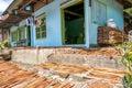 Drying cinnamon in sumatra indonesia Stock Photo