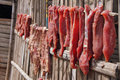 Drying Meat Cambodian Style Stock Images