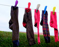 Drying Socks.