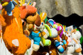 Drying after washing soft toys Royalty Free Stock Photo