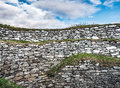 Drystone Wall at Clickimin Broch Royalty Free Stock Photo