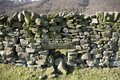 Drystone wall in Derbyshire Royalty Free Stock Photo