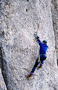 Drytool climbing in Costila Royalty Free Stock Photo