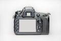 Dslr camera on a white background Stock Photo