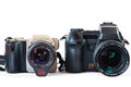 DSLR cameras Royalty Free Stock Photo