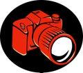 DSLR Digital Camera Front Retro Royalty Free Stock Photo