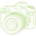 DSLR outline Royalty Free Stock Photography