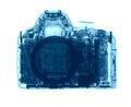DSLR photo camera under the X-rays Royalty Free Stock Photo