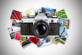 Dslr retro concept Royalty Free Stock Photography