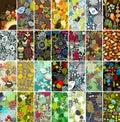 Duży set vertical karty z ptakami i kwiatami Obrazy Royalty Free