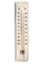 Dual Celsius Fahrenheit scale thermometer Stock Image