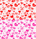 Dual seamless hearts pattern Royalty Free Stock Photography