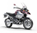 Dual sports motorcycle close up on a light background Royalty Free Stock Photo