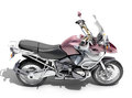 Dual sports motorcycle close up on a light background Royalty Free Stock Photos