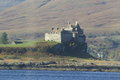 Duart castle scotland on the isle of mull in is the ancestral home of the clan maclean Royalty Free Stock Photo