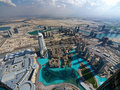 Dubai from above Stock Photos