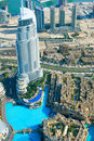 Dubai aerial view Royalty Free Stock Images