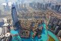 Dubai aerial view Royalty Free Stock Photo