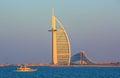 Dubai city center and luxury hotels on Jumeirah beach,Dubai,United Arab Emirates Royalty Free Stock Photo